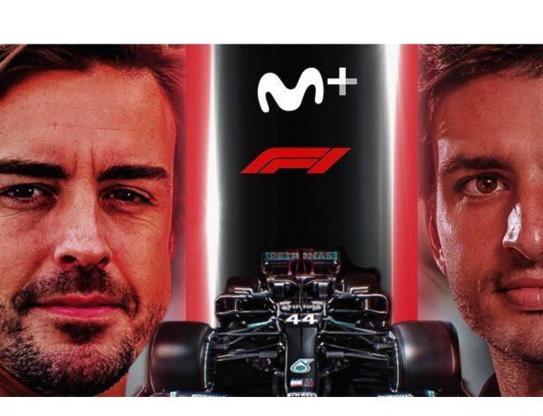 sainz, alonso, Movistar+ ,Fórmula 1 ,renuevan ,alianza para ,emitiendo , Campeonato del Mundo ,Movistar F1, programapublicidad