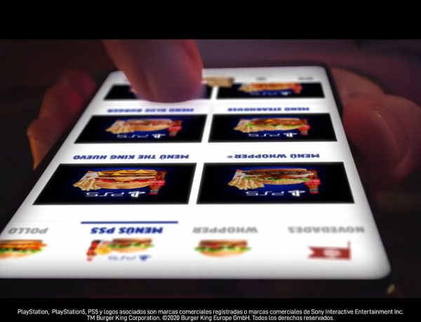 burger king, PS5, despertar , sentidos, movil, mobile, app, online, programapublicidad