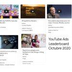 El Ads Leaderboard de octubre de YouTube nos traslada ya a la Navidad.