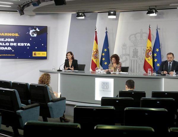 Consejo de Ministros, Montero, Calvo ,Ábalos ,La Moncloa, Madrid, 22 de diciembre ,2020, programapublicidad