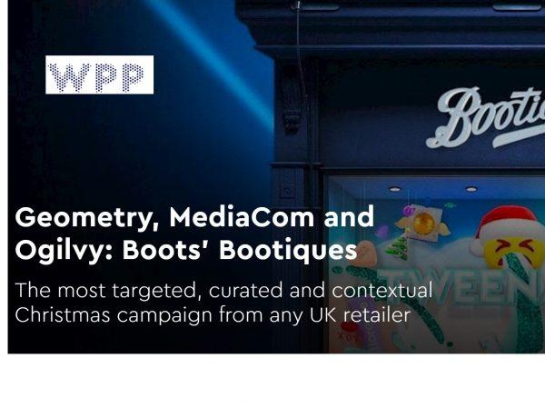 Geometry , MediaCom , Ogilvy , Londres, Bootique,programapublicidad