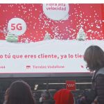 Primera campaña 3D en Callao City Lights de Vodafone con, Sra. Rushmore e Ymedia
