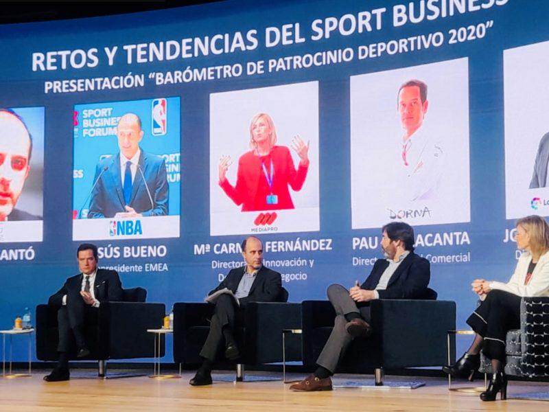 Presentación , mkt, cantó, nba,laliga, dorna, mediapro,Barómetro , Patrocinio Deportivo ,2020, programapublicidad