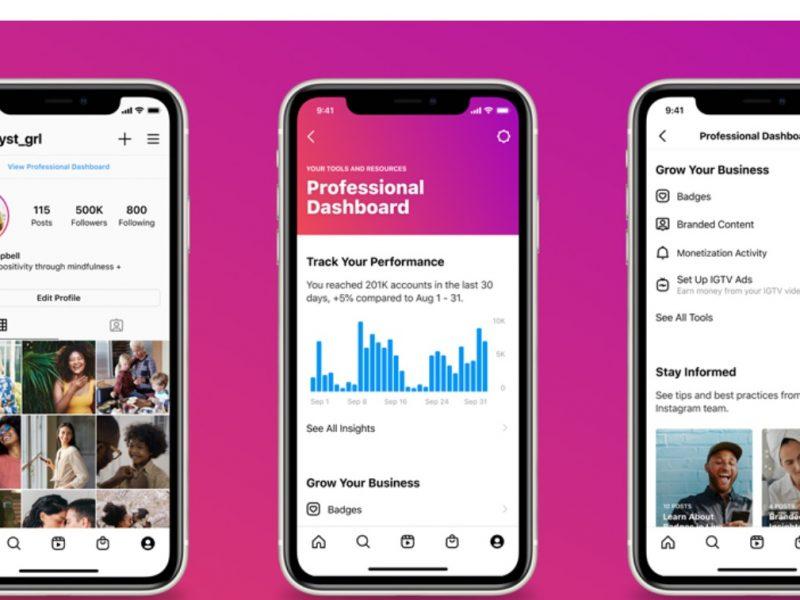 Professional , Dashboard, Instagram, programapublicidad