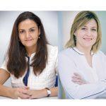 Raquel Capellas  y Natalia Sánchez  co-directoras generales de Weber Shandwick. Rose de la Pascua dejará su puesto