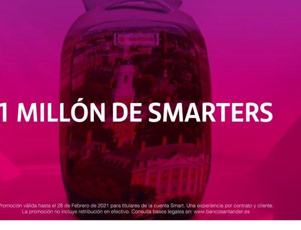 1 millón , experiencias , clientes ,Cuenta Smart ,santander, mccann, programapublicidad
