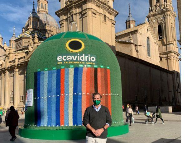 GRUPO INRED ,plaza , Pilar de Zaragoza , contenedor, más grande , mundo , Ecovidrio, programapublicidad