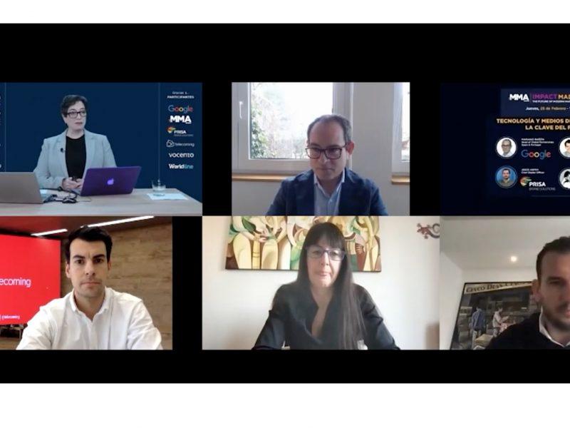 debate, webinar, mma, , Mariano Bañón, Spain & Portugal de Google, Jesús Aspra, Prisa, Rodrigo Santiuste, Telecoming ,Maylis Chevalier, vocento,programapublicidad