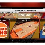 Burger King crea #BKMenuCourt  una cancha comestible de 2k21 con David