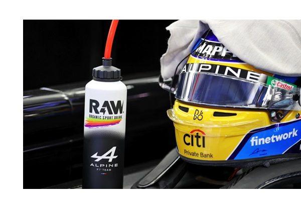 RAW ,Sport Drink ,desembarca ,Campeonato ,Mundial ,Fórmula 1, primera bebida , BIO ,deportistas ,Alpine , alonso,programapublicidad