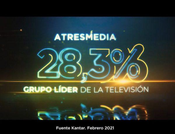 atresmedia, 28,3, lider, febrero, 2021,programapublicidad