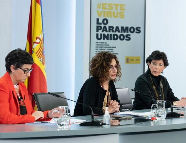 María Jesús Montero, Arancha González Laya, ministra de Educación, Isabel Celaá,, consejo ministros, programapublicidad