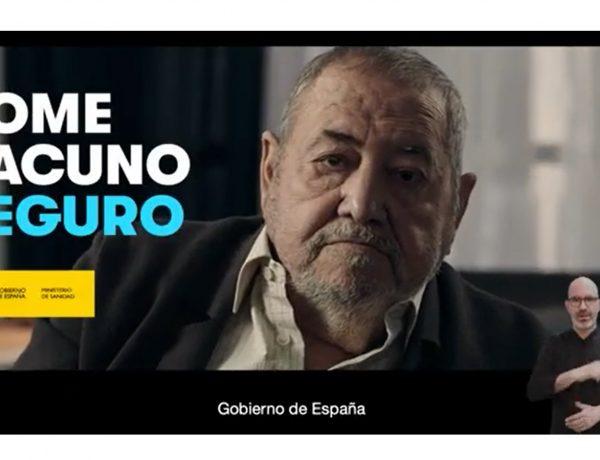 #YOMEVACUNOSEGURO ,jubilado, Contrapunto BBDO ,Ministerio de Sanidad, programapublicidad