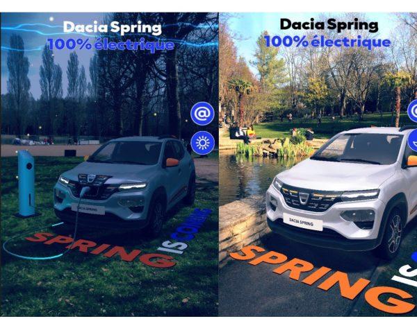 dacia spring, 100% electrico, electric, ra, snapchat, programapublicidad