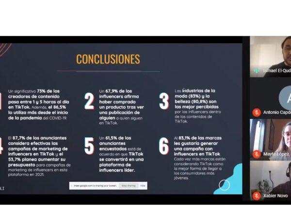 conclusiones estudio, uso, paid, organico, recomendaciones, influencers, tiktok, socialpubli, ismael, elqudsi, programapublicidad