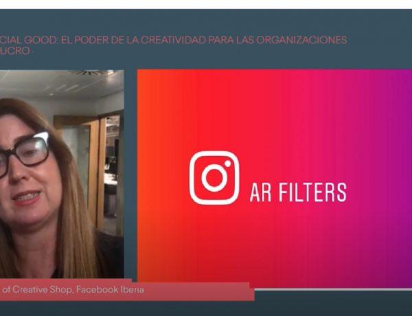 Pepa Rojo, Facebook Iberia, social Good, filtros instagram , AR filters, stories, #cdec2021, programapublicidad
