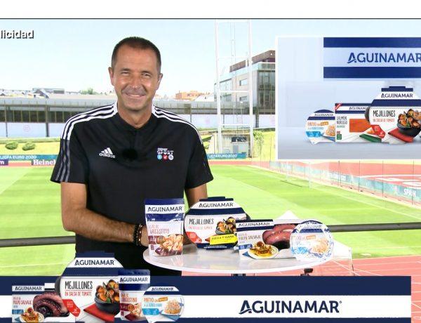 campaña , Angulas Aguinaga ,marca Aguinamar, Eurocopa 2021, versión propia ,canción ,Oliver ,Benji, Manuel Carreño , TV. ,programapublicidad