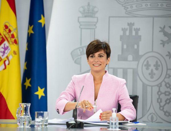 La ministra ,Política Territorial ,portavoz ,Gobierno, Isabel Rodríguez, rueda , prensa ,Consejo de Ministros., programapublicidad