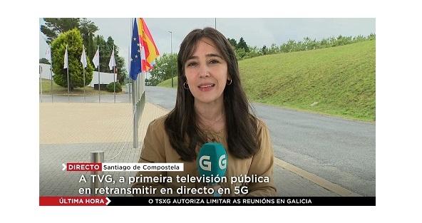 Televisión de Galicia, primera ,televisión ,pública ,retransmite ,en directo ,5G ,Telefónica, programapublicidad