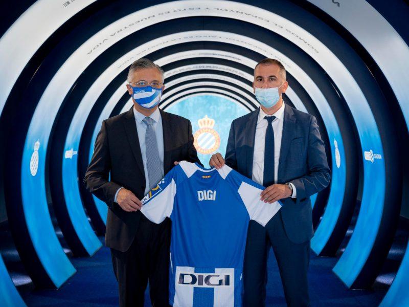 camiseta, DIGI ,patrocinador oficial , RCD Espanyol , dos temporadas, programapublicidad