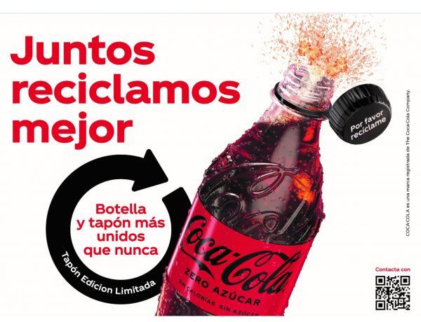 coca-cola, tapones, botellas , reciclables, programapublicidad