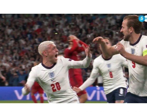 prórroga , partido ,Fútbol,Eurocopa , Inglaterra-Dinamarca, SF, Tele5,programapublicidad