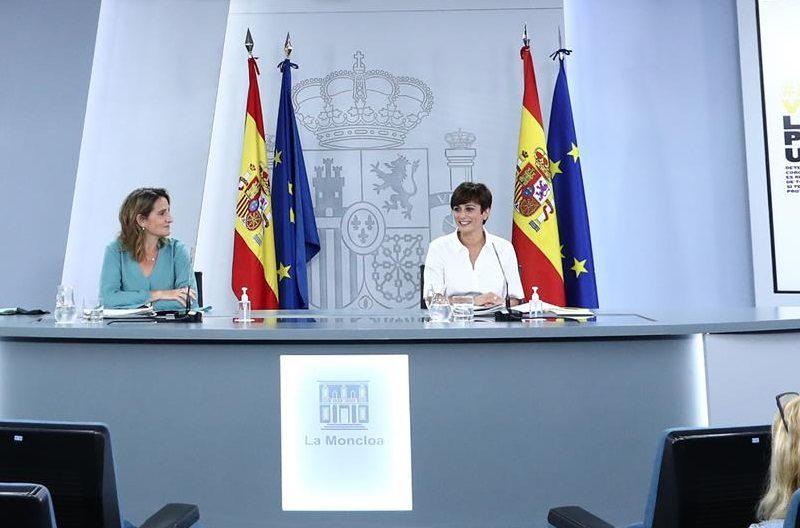 Consejo de Ministros, Isabel Rodríguez ,Teresa Ribera, La Moncloa, ,martes ,3 de agosto ,2021, programapublicidad