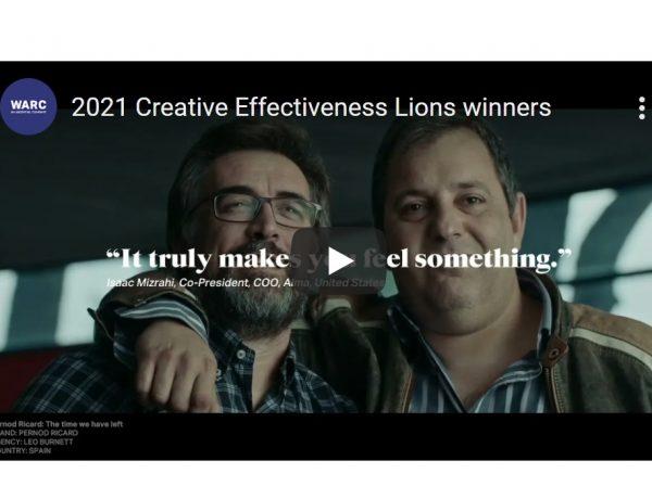 WARC ,claves , ganadores , Leones , Creative Effectiveness , Cannes 2021, programapublicidad