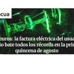 FACUA reclama a la CNMC que aclare qué eléctricas han inflado ilegalmente el precio de la energía.