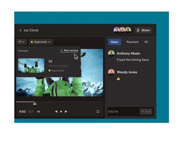 Dropbox ,lanza ,nuevos productos , creativos ,equipos distribuidos, programapublicidad