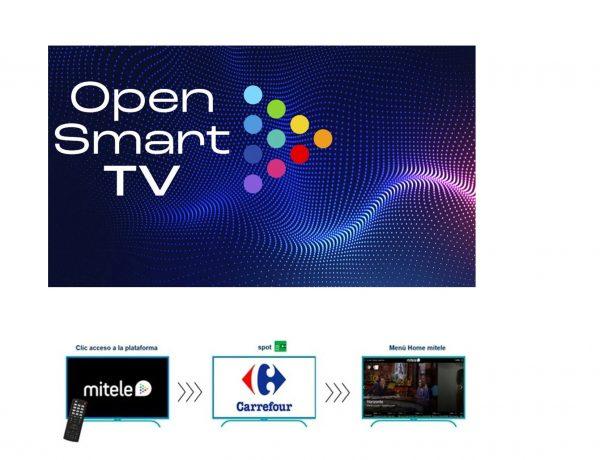 Mediaset España ,lanza ,Open Smart TV, formato ,publicitario ,máxima ,notoriedad , Televisión Conectada, carrefour, miltele, programapublicidad
