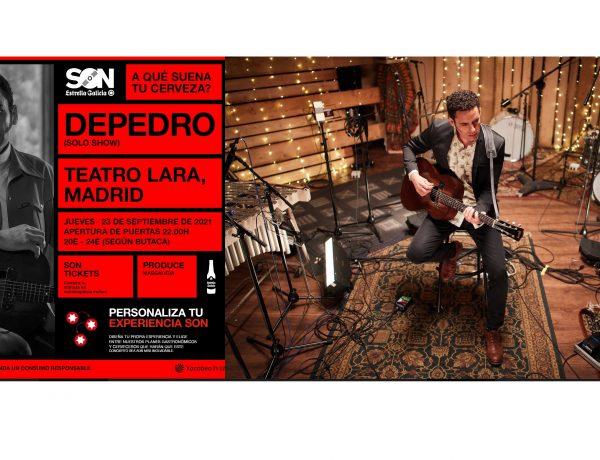 SON Estrella Galicia ,vuelve a las salas , concierto , de Depedro ,Teatro Lara ,programapublicidad