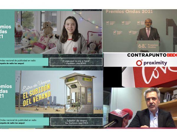 Premios, #Ondas2021, #ExtraDeVerano, #JuegosONCE, #ONCE, El subidón del Verano, Extra de Verano , la ONCE ,Contrapunto, david, Coral, programapublicidad