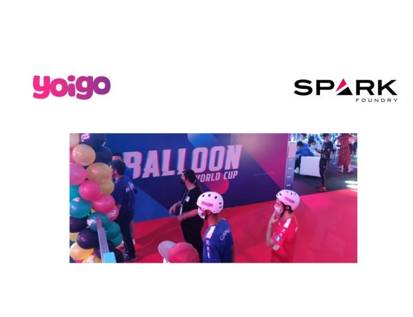 Yoigo ,Balloon World Cup ,Ibai .Piqué,Spark Foundry, programapublicidad