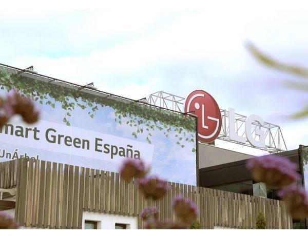 lona, LG, exterior, smart green, programapublicidad